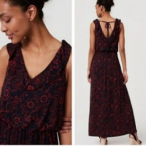 Loft   Floral Sleeveless Maxi Dress